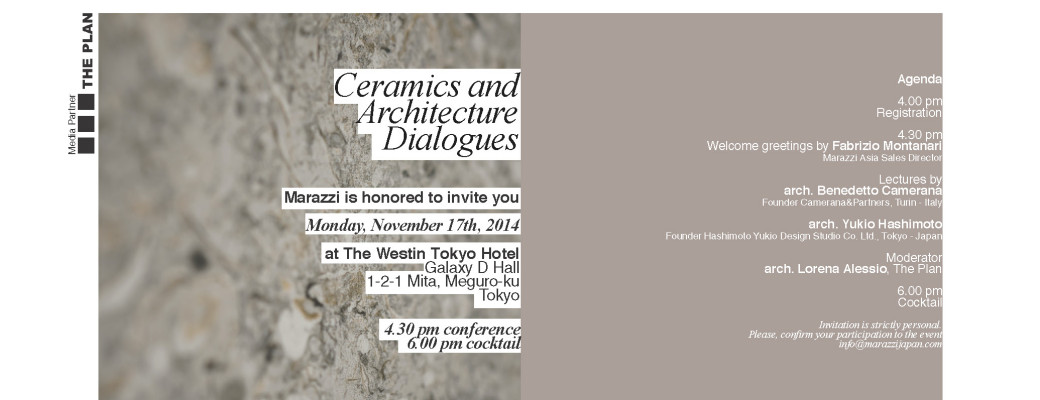 Marazzi Event_Ceramics Architecture Dialogues_17.11.2014_Tokyo_Invitation