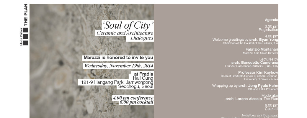 Marazzi Event_Soul of City_19.11.2014_Seoul_Invitation